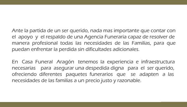 Servicios Funerales Aragón Funerarias En Torreón Casa Funeral